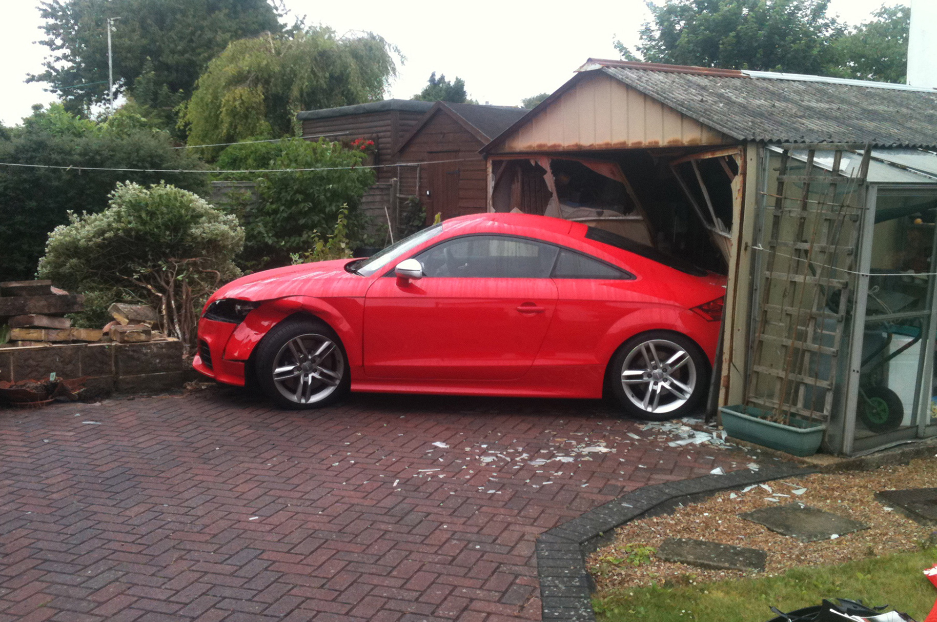 Vehicle garage crash